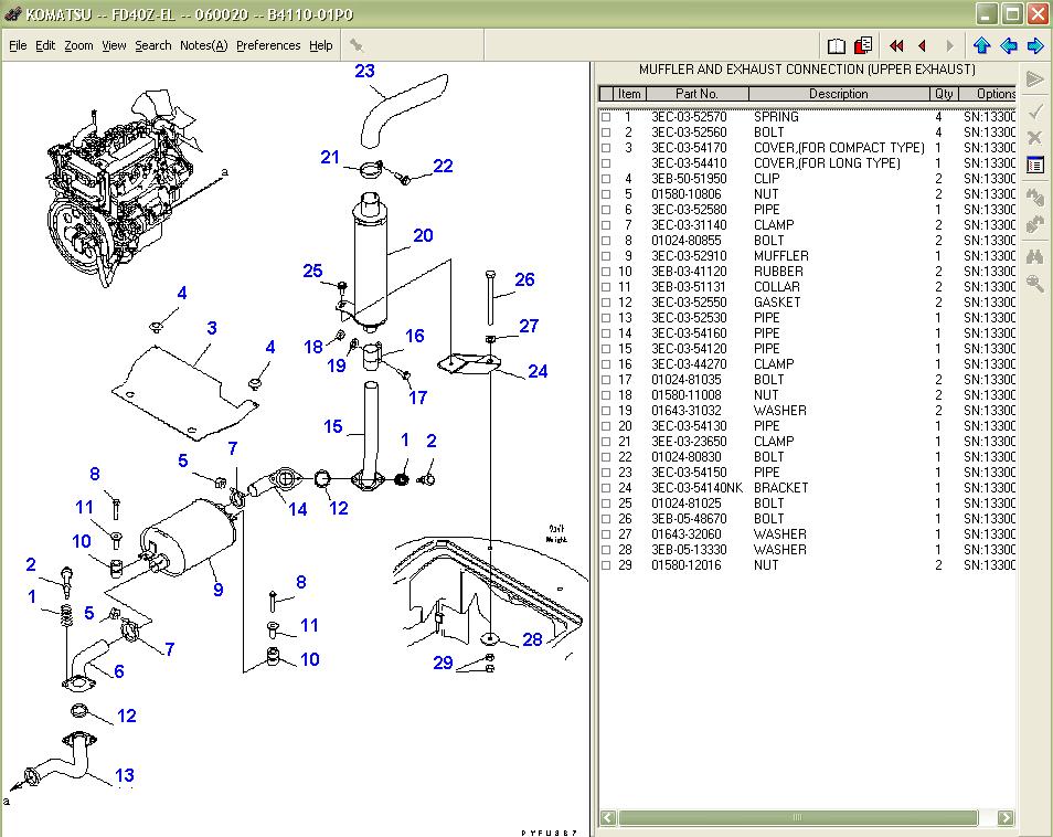 komatsu forklift truck spare parts catalog parts book. Black Bedroom Furniture Sets. Home Design Ideas