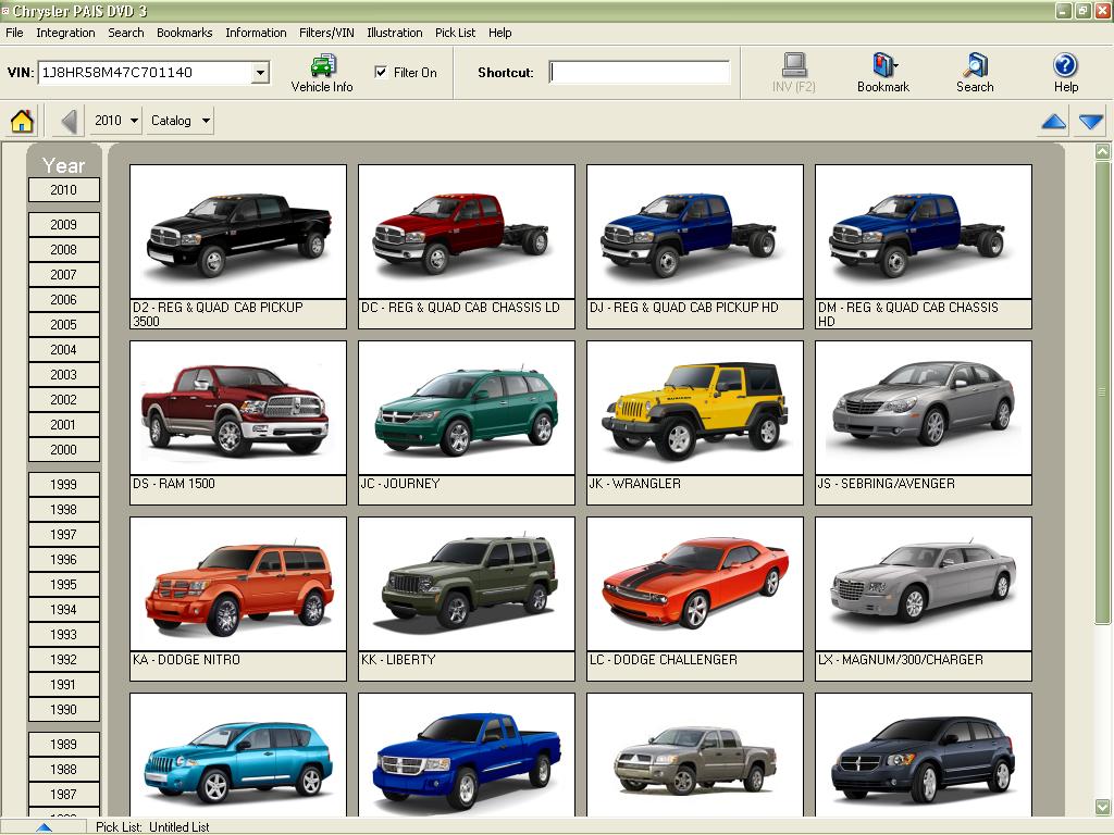 chrysler pais usa 2011 proquest spare parts catalog. Cars Review. Best American Auto & Cars Review