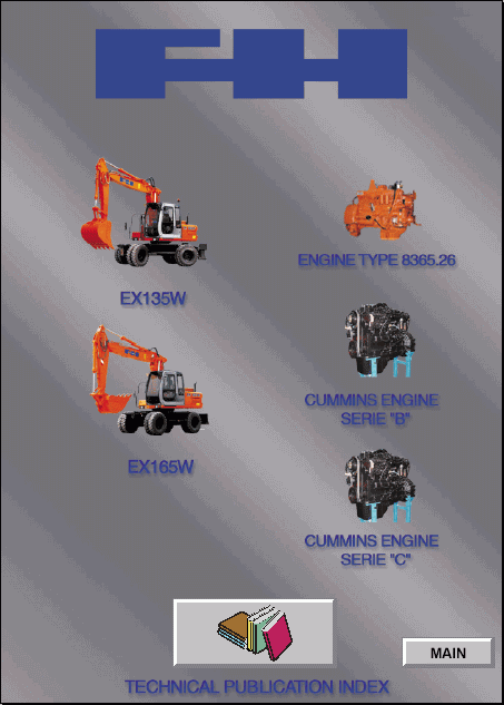Fiat Hitachi Excavators Ex Series Service Manual Repair
