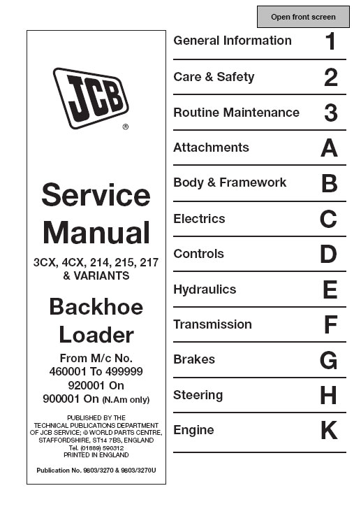jcb service manuals jcb repair manuals workshop manuals repair manuals jcb service manuals 2010 full