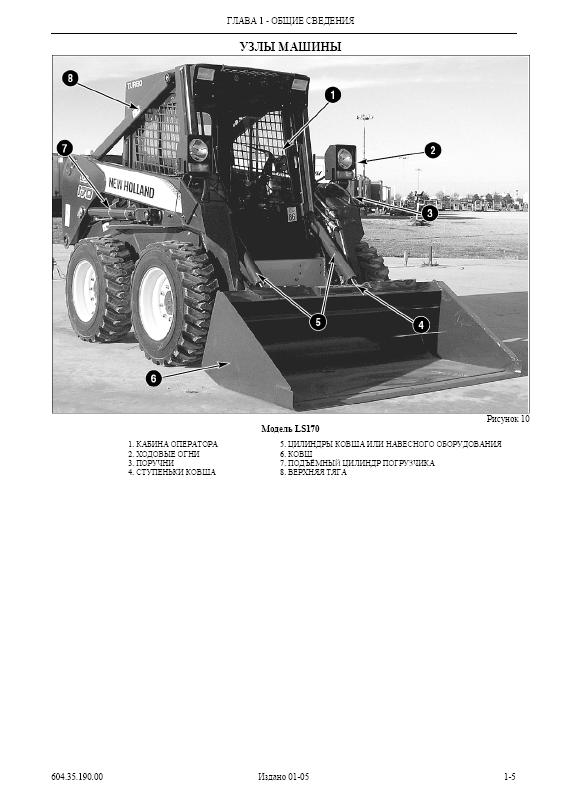 new holland ls160    ls170 skid steer loader operation and