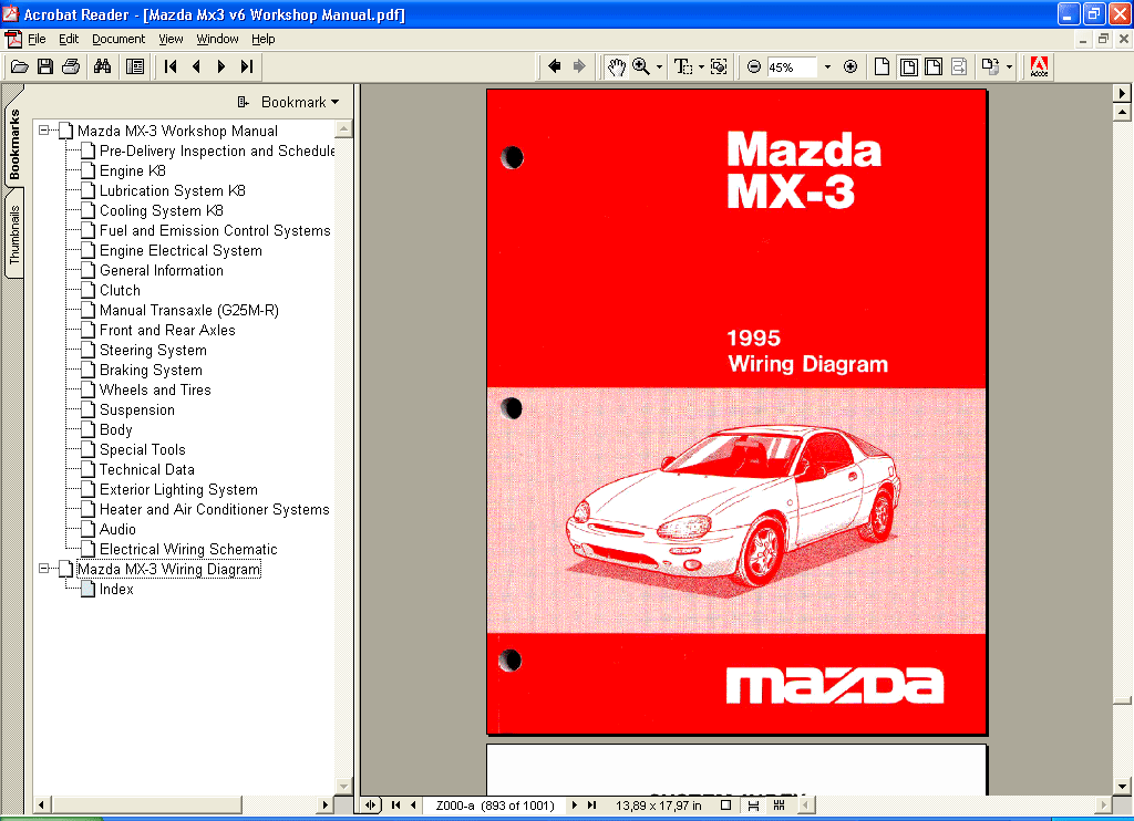 Mazda Mx3 Repair Manual Repair Manual Order  U0026 Download