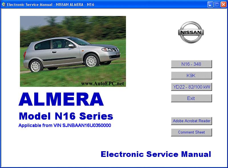 Nissan Almera N16 Series Repair Manual Order  U0026 Download