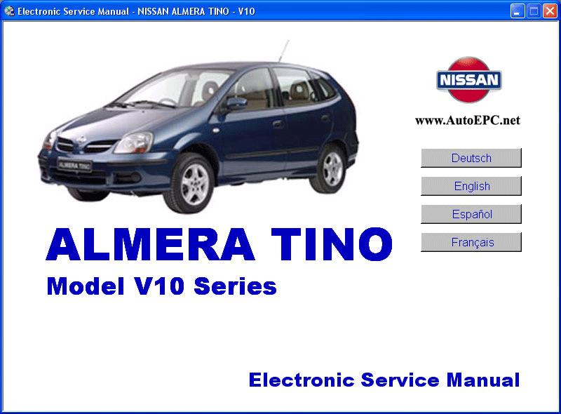 Nissan Almera Tino V10 Series Service Manual Repair Manual