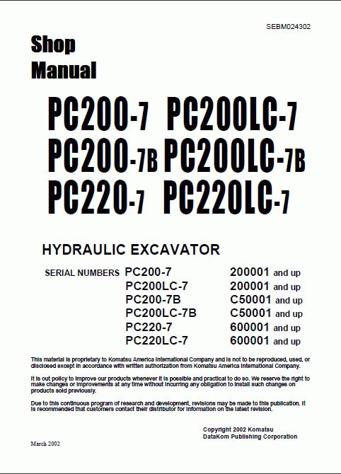 komatsu pc 200 7 manual