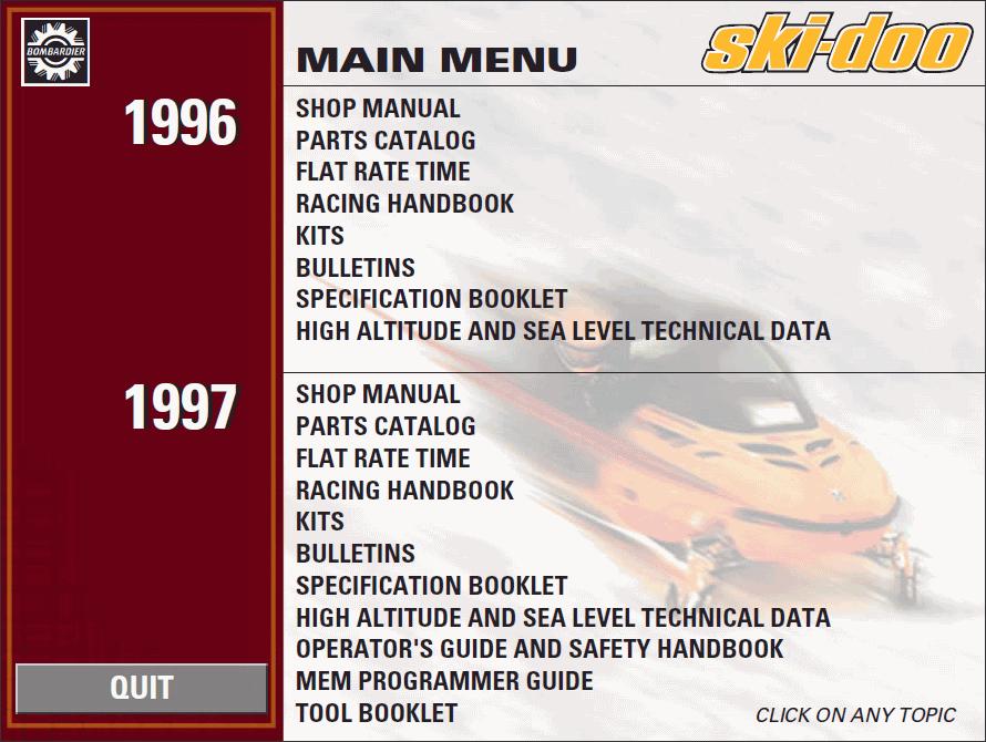 bombardier ski doo 1996 1997 parts catalog repair manual Flat Rate Padded Envelope Flat Rate Envelope