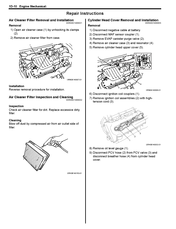 repair manuals suzuki baleno service manual