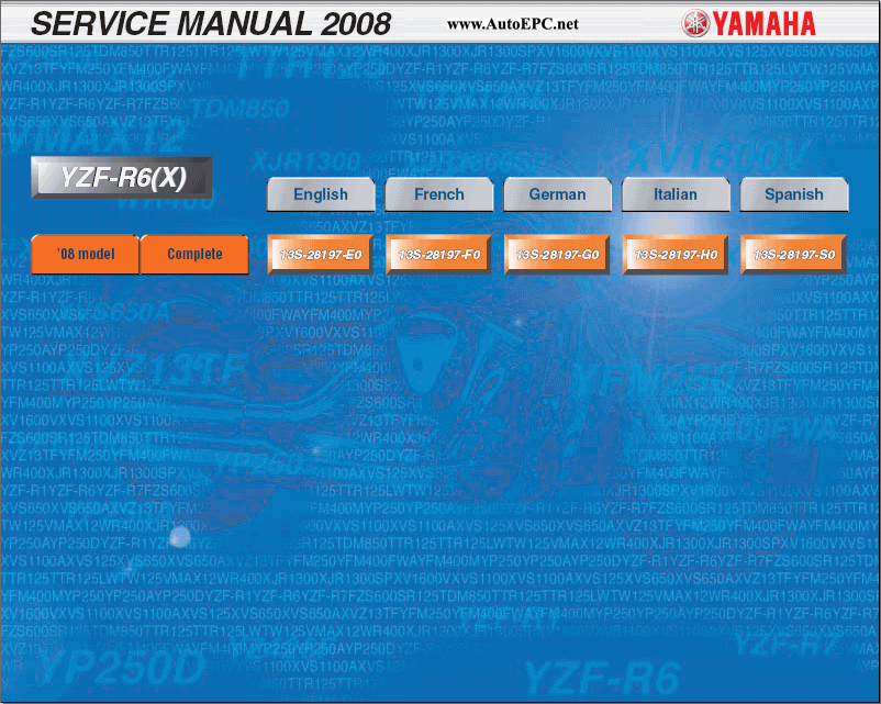 Yamaha YZF-R6 2008 Repair Manual repair manual Order & Download