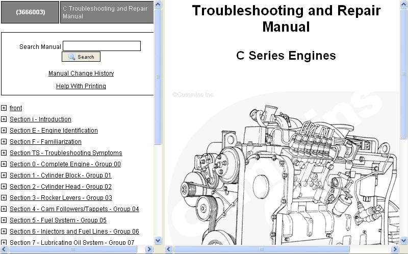 cummins engine c8 3 workshop service manual repair manual order