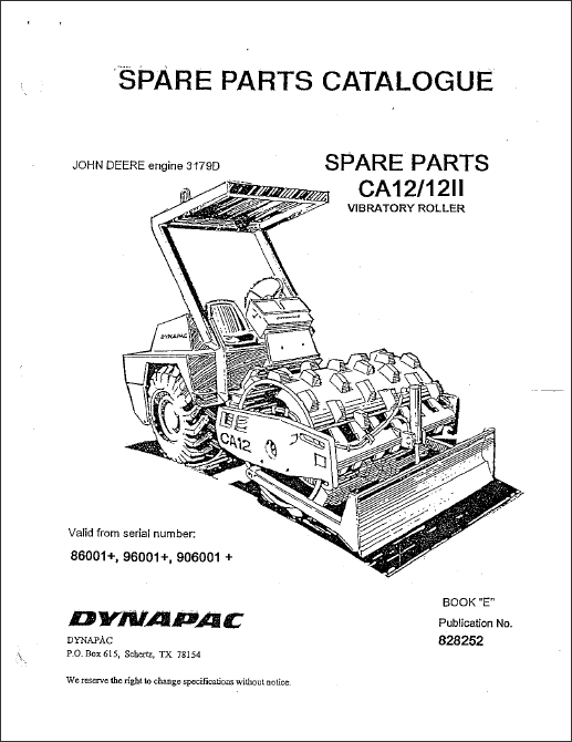 dynapac spare parts catalogue  parts manuals  repair manuals  service manuals  wiring diagrams