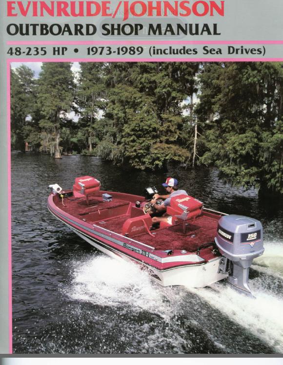 evinrude johnson outboard 48 235hp 1973 1989 service. Black Bedroom Furniture Sets. Home Design Ideas