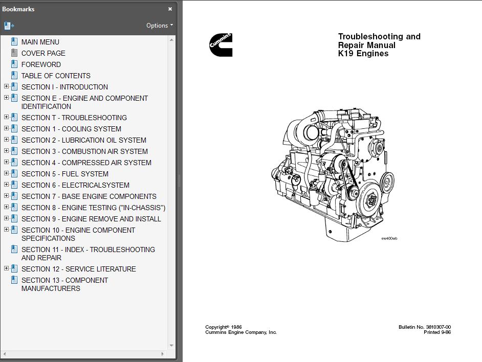 engine repair diagram cummins k19 engine pdf troubleshooting repair manual  cummins k19 engine pdf troubleshooting