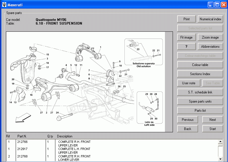 Maserati Quattroporte My06 Parts Catalog Repair Manual Order  U0026 Download