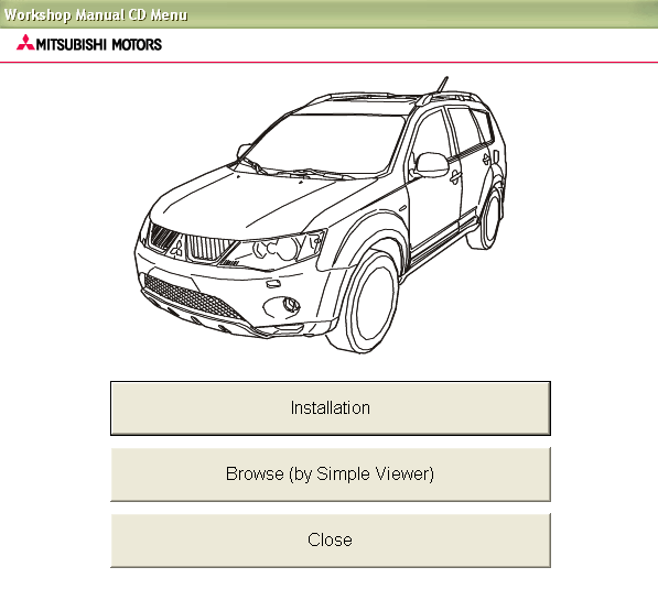 Mitsubishi Outlander 2009 Service Manual Repair Manual Order  U0026 Download
