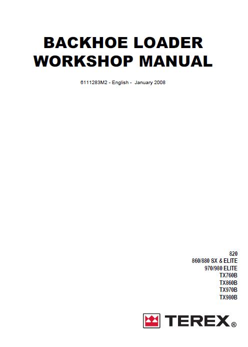 fermec terex workshop service manual repair manual order  u0026 download