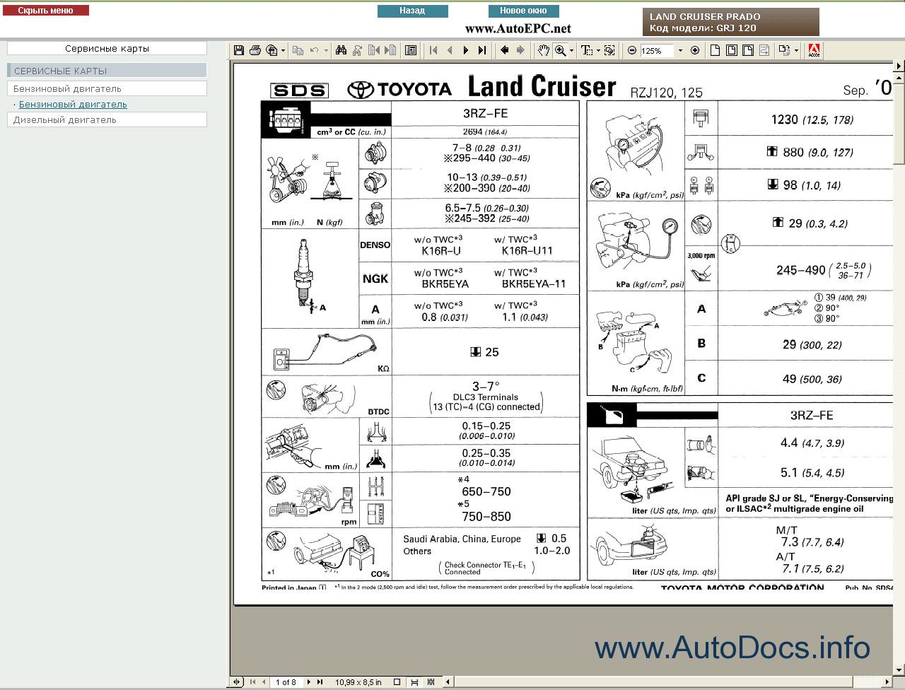 Toyota Land Cruiser Prado 120 Service Manual Rus Repair