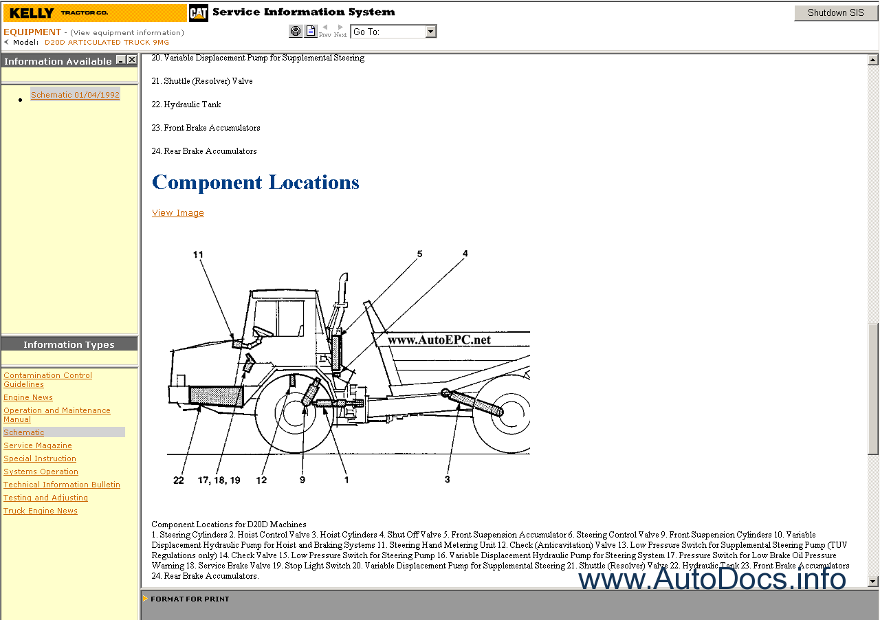 Caterpillar Sis  Stw  Et 2010 Parts Catalog Repair Manual Order  U0026 Download