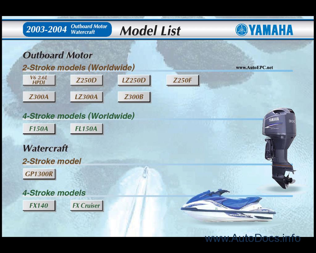 Yamaha Outboard Motors & Watercraft (JetSki) Repair Manual