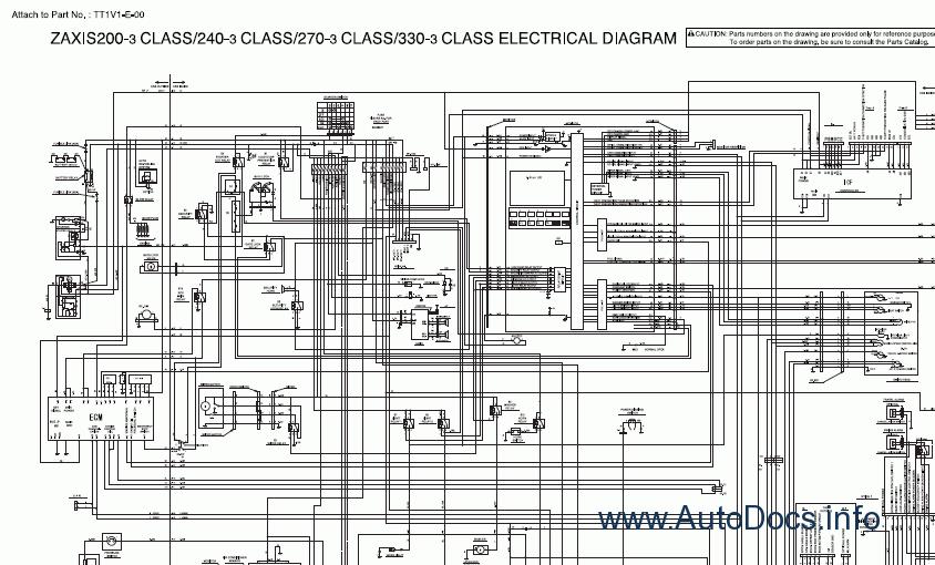 hitachi zx-200-3, zx-225-3, zx-240-3, zx-270-3 (zaxis) service ...  auto repair workshop manuals | parts catalogs