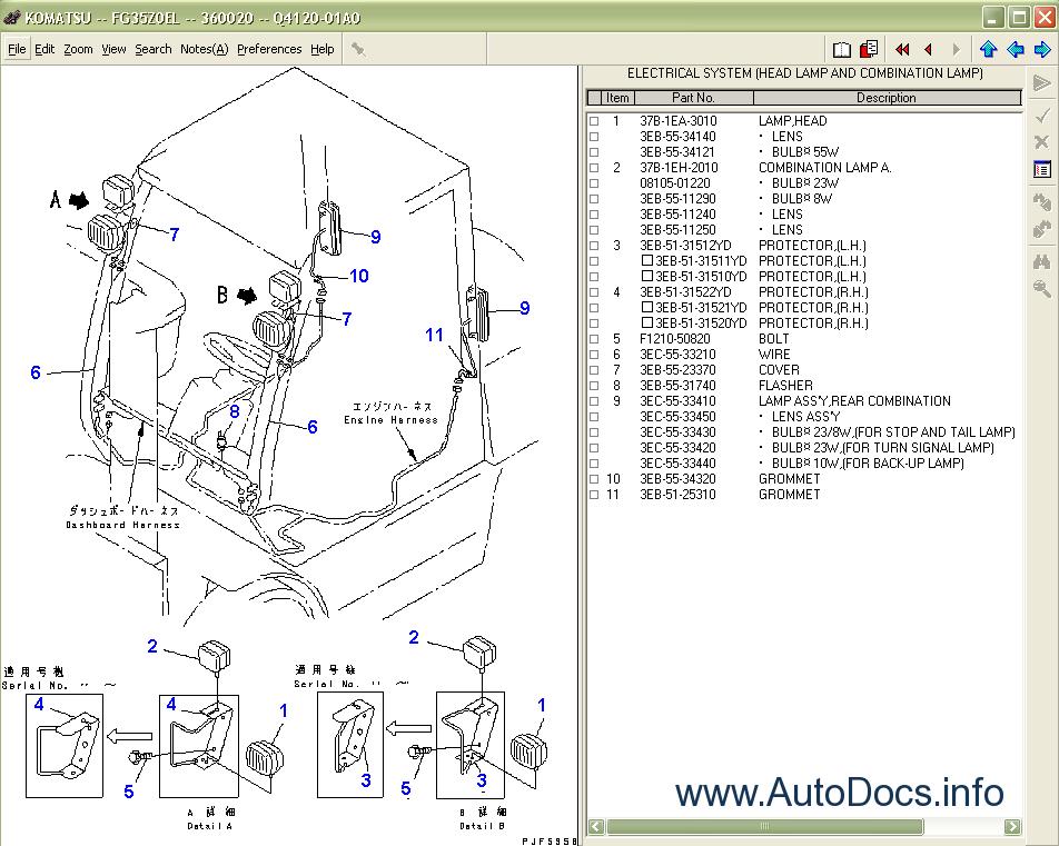 Komatsu Forklift Truck Spare Parts Catalog  Parts Books  Parts Manual Komatsu Forklift Trucks