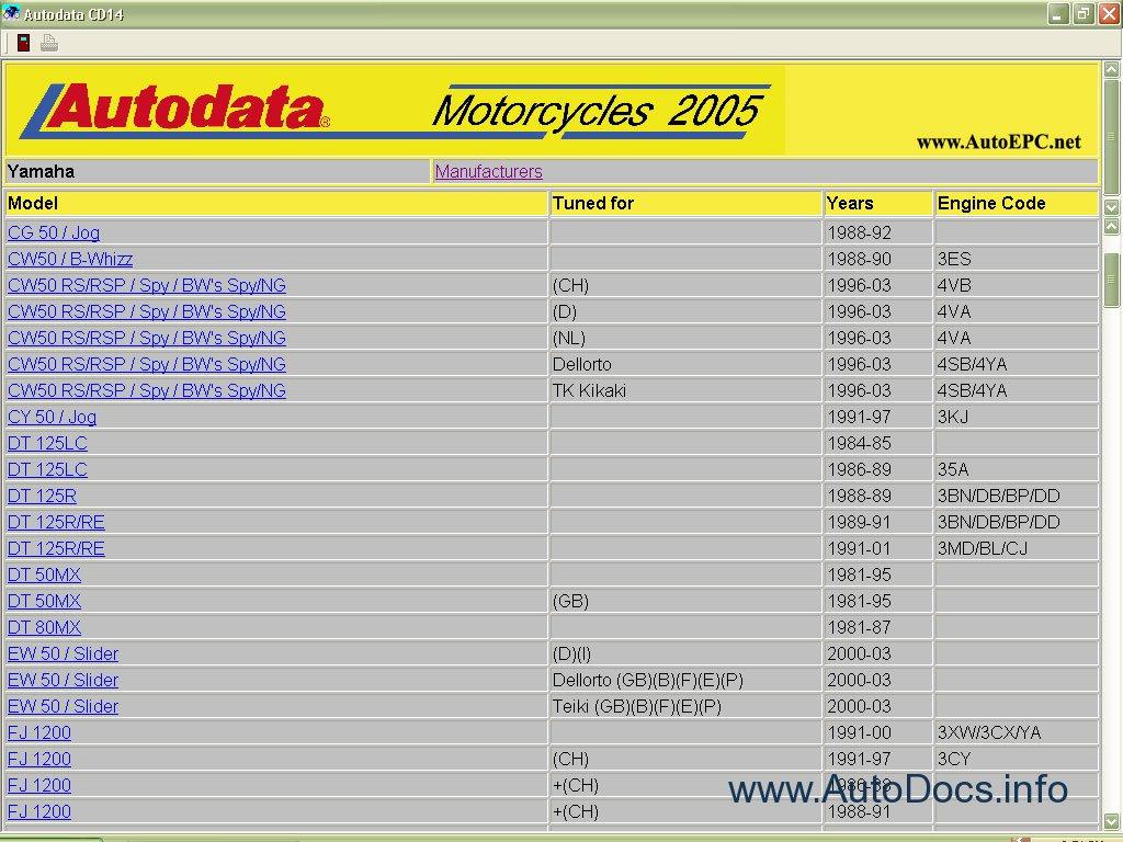 Autodata Moto 2005 Repair Manual Order  U0026 Download