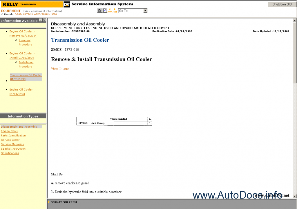 Caterpillar SIS, STW, ET 2008 parts catalog repair manual Order
