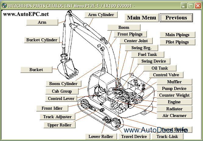 Hitachi Excavator Medium Crane Parts Catalog Order Amp Download
