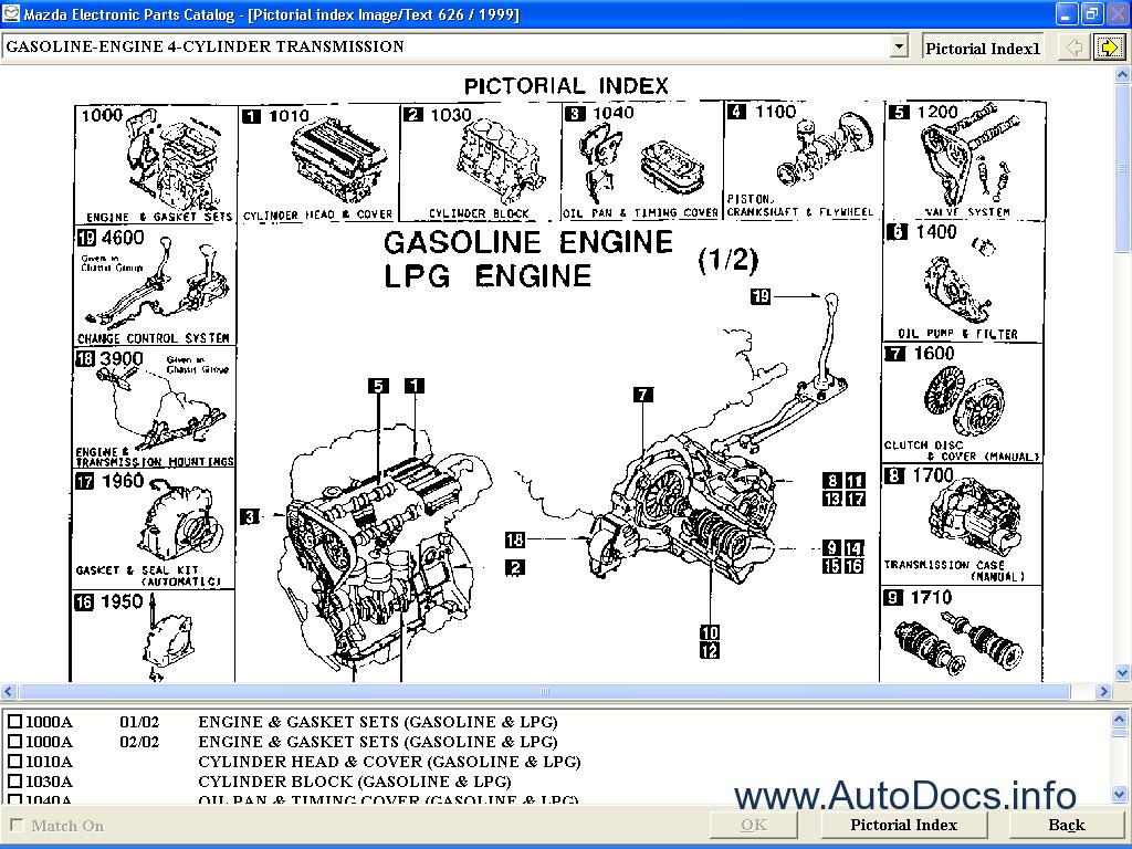 Mazda Asia 2009 Lhd Parts Catalog Order  U0026 Download