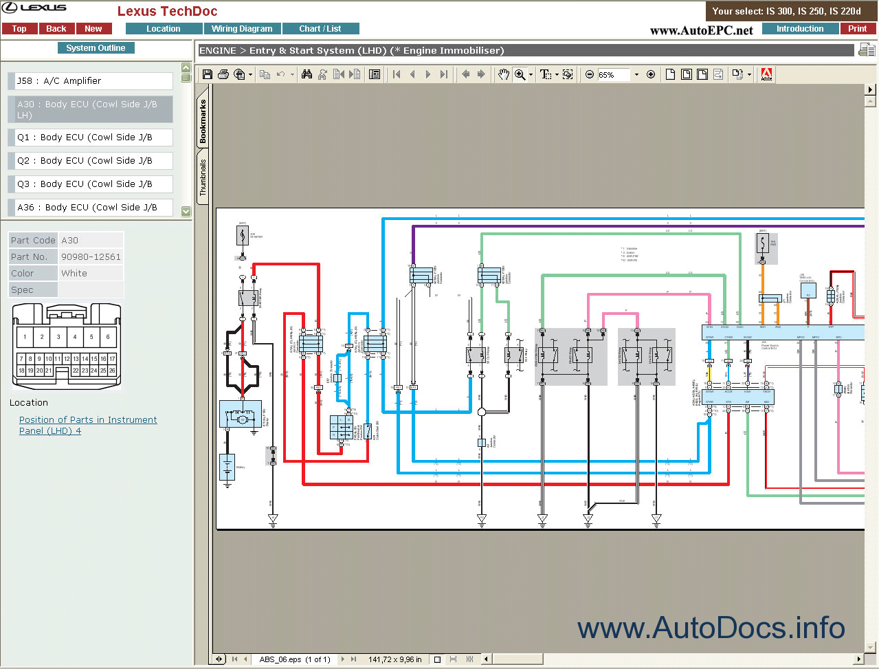 Lexus Is 220d Wiring Diagram Diagrams Ct 200h Is300 250 Rus Repair Manual Order 200