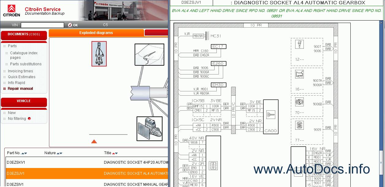 citroen spare parts catalog repair manual service manual citroen electrical wiring diagrams
