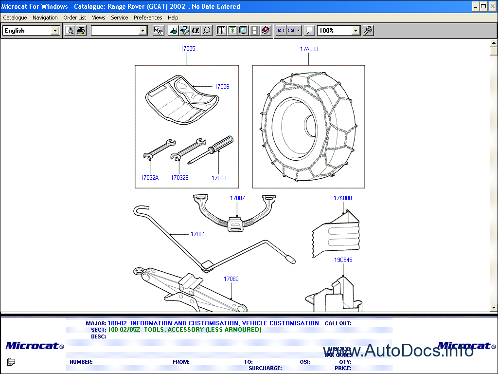 Land Rover 2011 Parts Catalog Order Amp Download