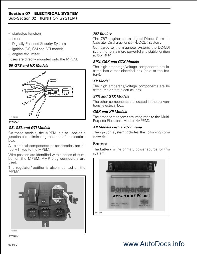 seadoo gts 1998 service manual