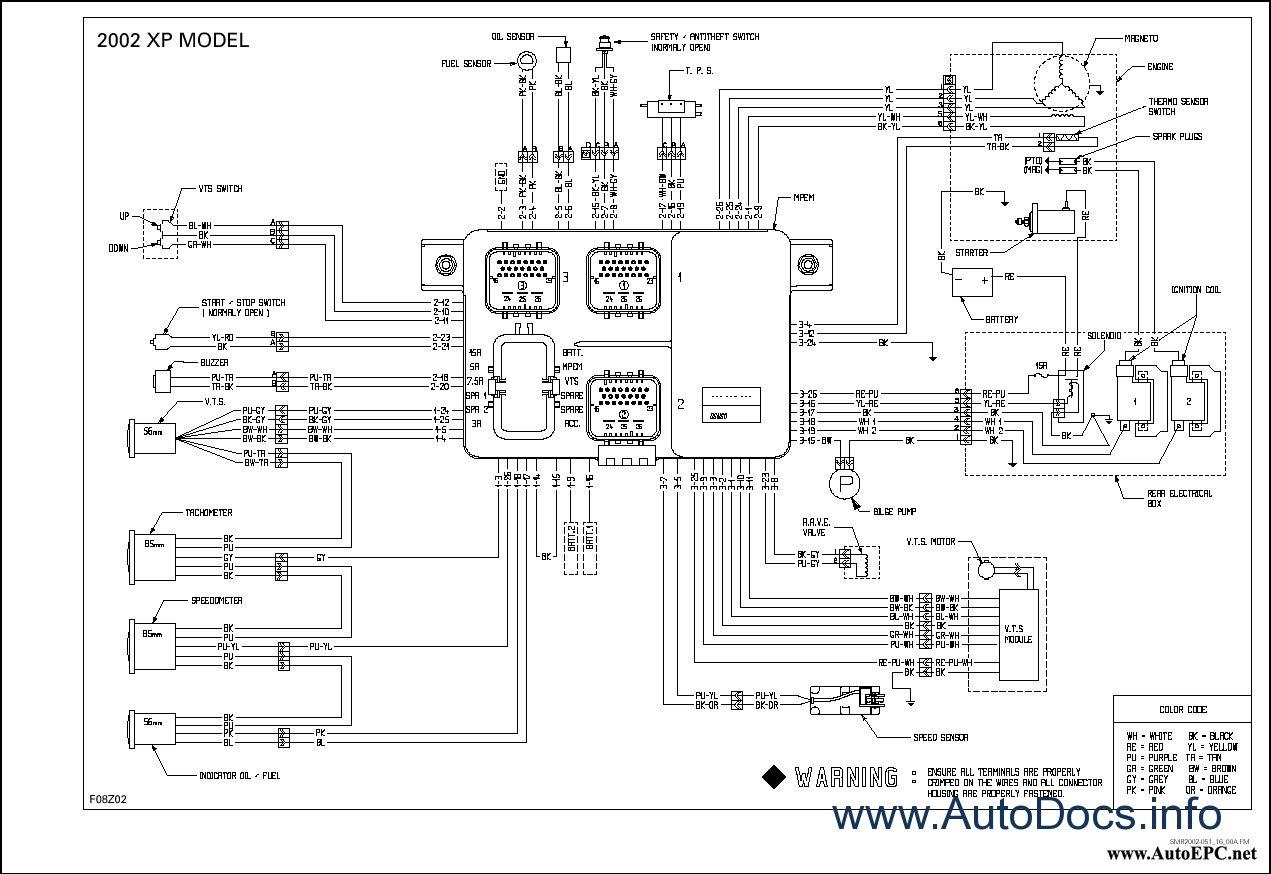 bombardier sea doo 2002 parts catalog repair manual order