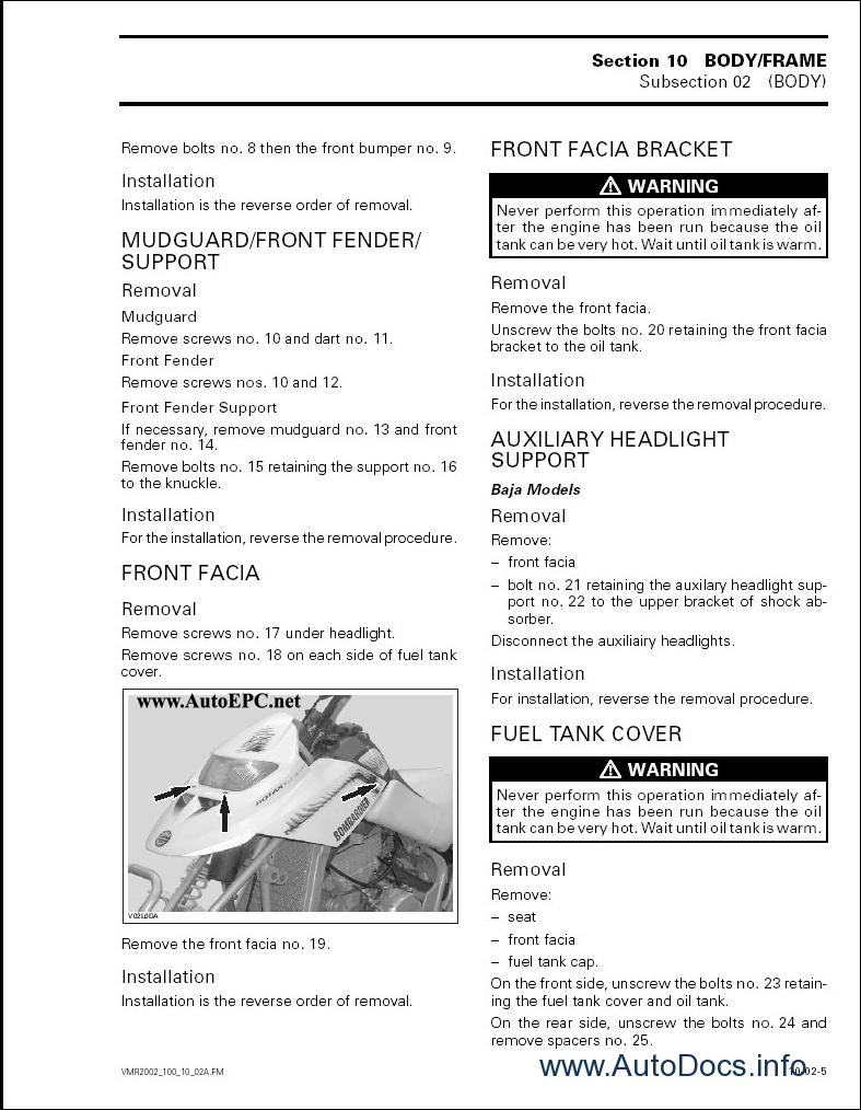 bombardier atv wiring diagrams bombardier atv 2002 parts catalog repair manual order ...