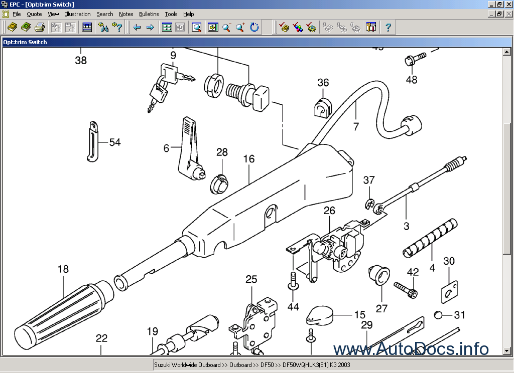 Suzuki Marine Outboard Old parts catalog Order & Download