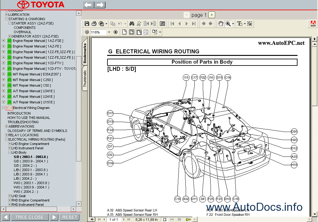 Wiring Diagram Manual For Aircraft : Toyota avensis  service manual repair
