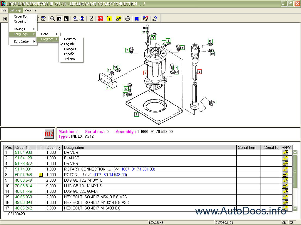 liebherr lidos 2011 online spare parts catalog  u0026 workshop