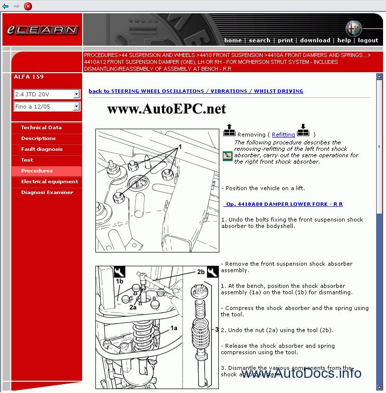 Alfa Romeo 159 Service Manual Repair Manual Order  U0026 Download