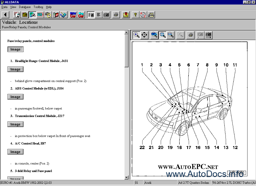 Alldata 10.20: Domestic, GM, Ford, Chrysler parts catalog ...
