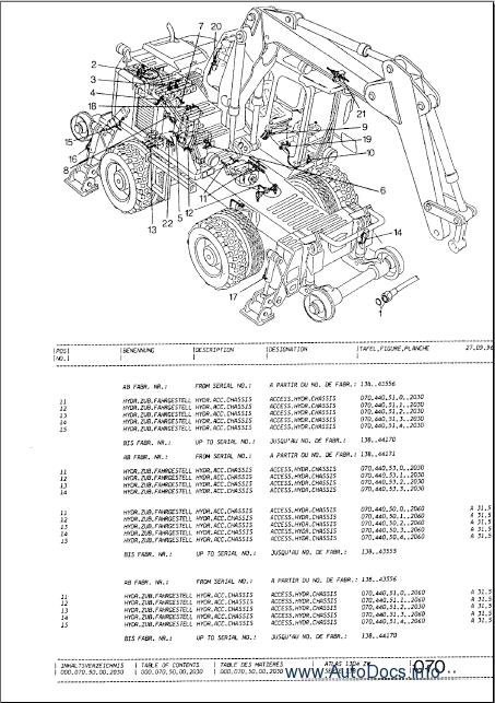 Atlas Excavators TEREX spare parts catalog parts manual