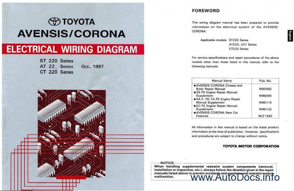 Toyota Avensis  Toyota Corona Repair Manual Order  U0026 Download
