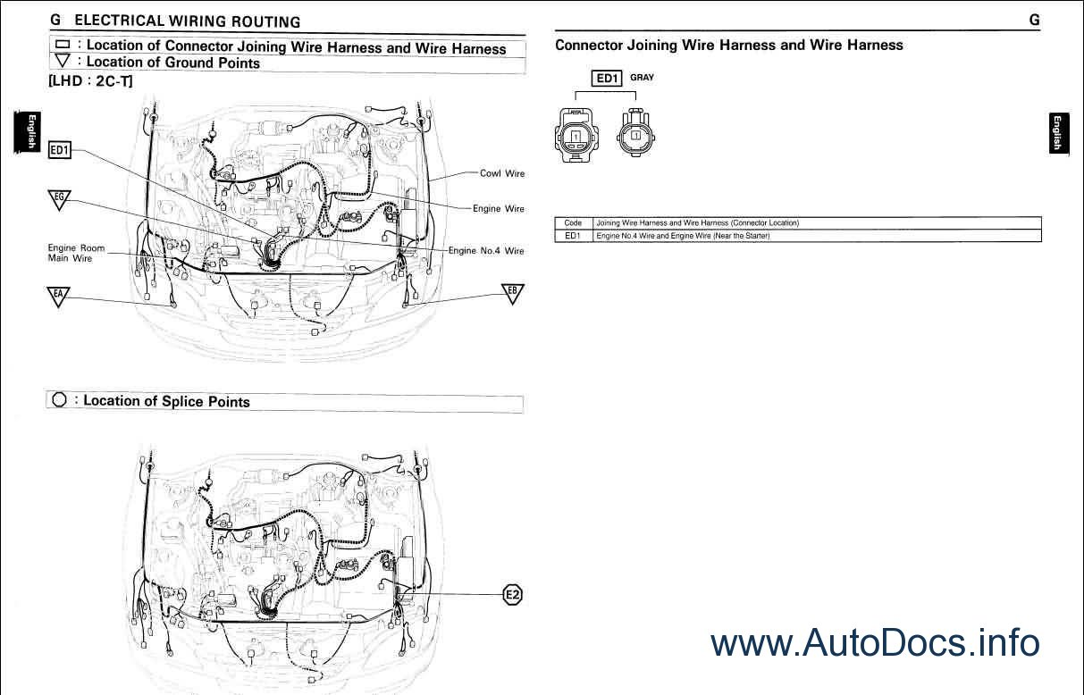 Toyota Land Cruiser Station Wagon Wiring Diagram Repair Manual Order  U0026 Download