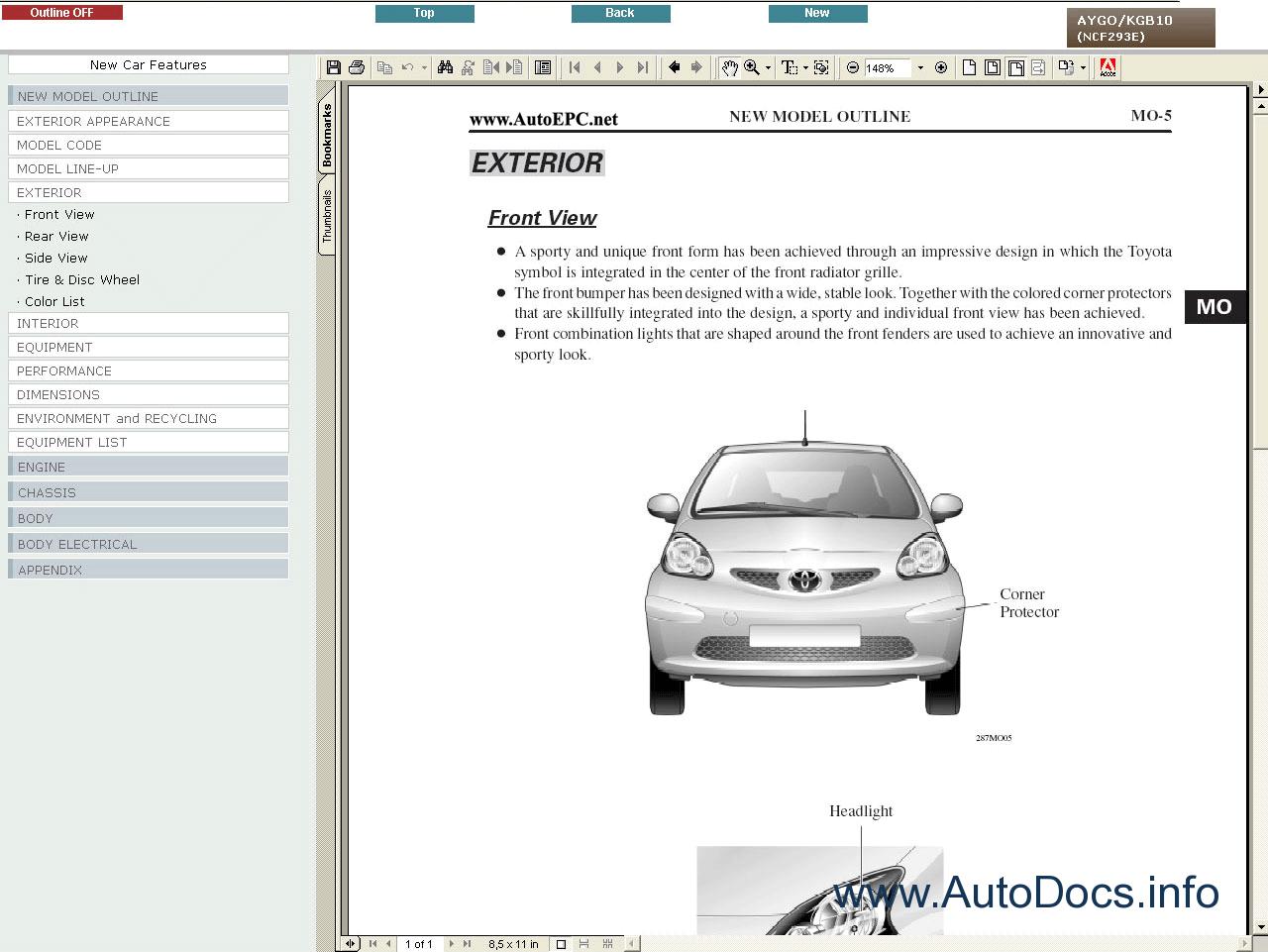 Main / Catalog / Cars Repair Manuals / Toyota Aygo Service Manual