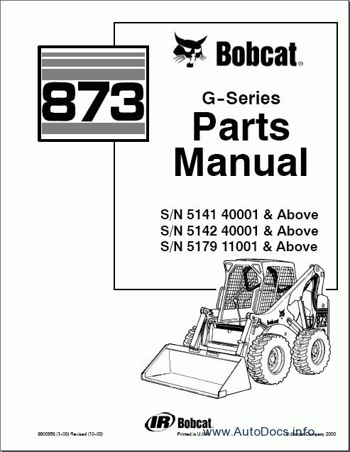 bobcat 753 service manual parts list