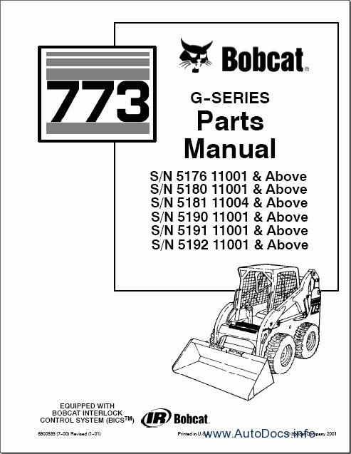 bobcat loaders parts manuals parts catalog order  u0026 download