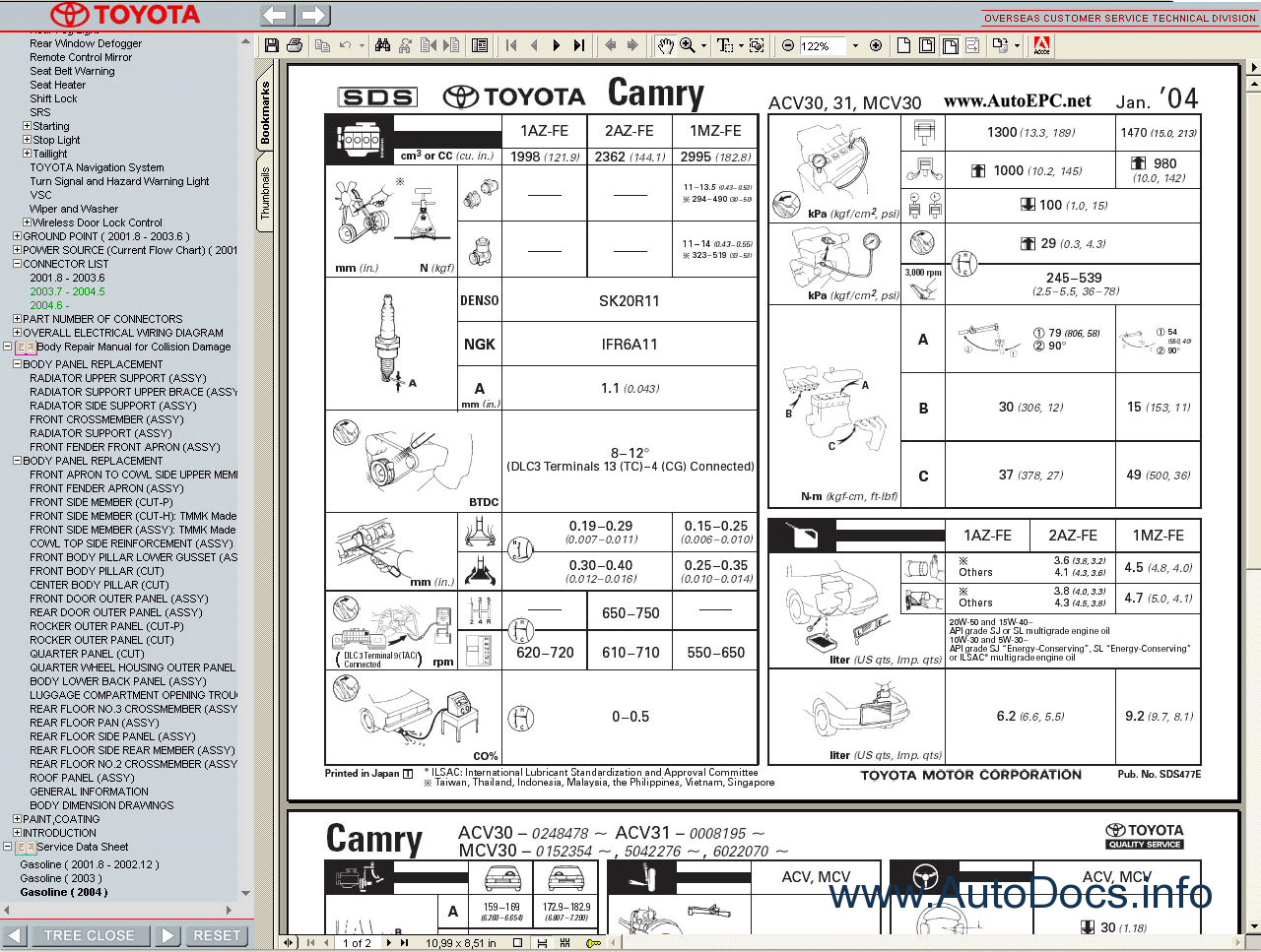Free Download Toyota Camry manual