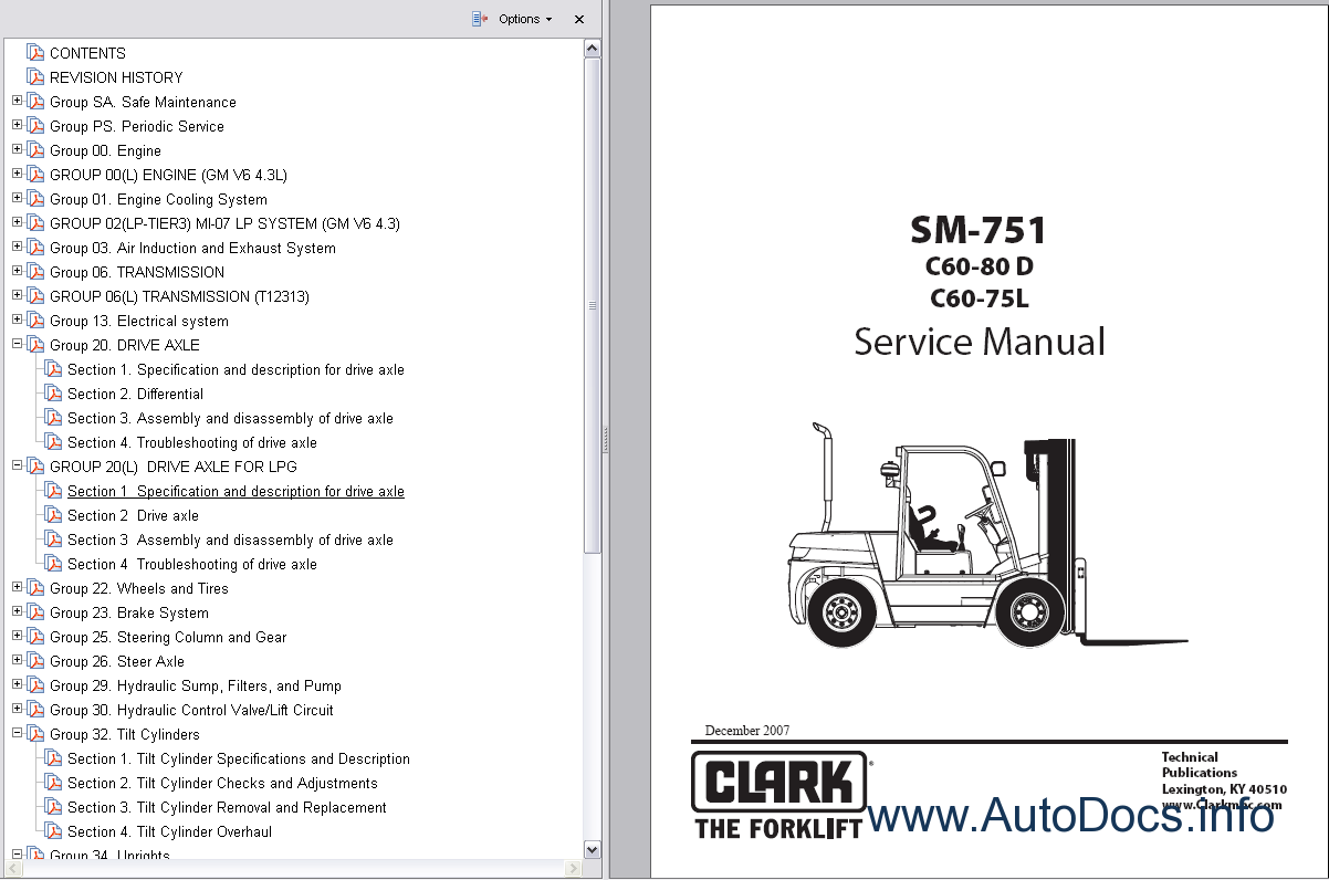 clark hwx pwx forklift service repair workshop manual download rh digitalrepairmanuals info clark forklift workshop manual clark forklift repair manuals st 40 b
