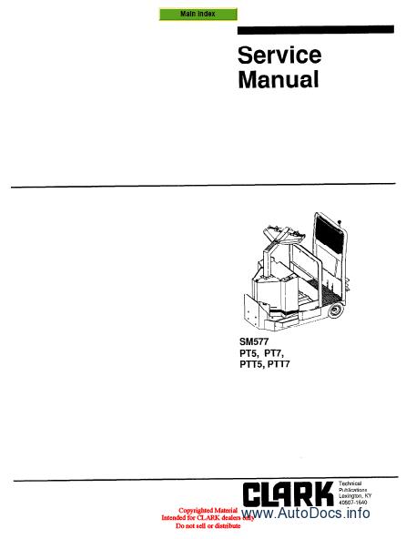 ... / Forklift Repair Manuals / Clark Forklift Trucks Service Manuals