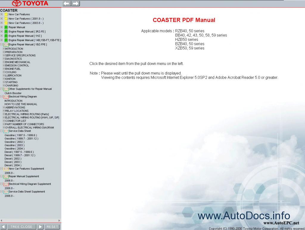 Toyota Coaster    Optimo Service Manual Repair Manual Order