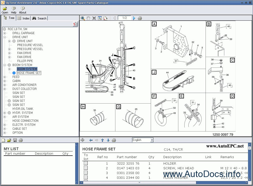 Atlas Copco Rock Drills Roc L7 Mk 11    Atlas Copco Roc L8 Th  Sm Parts Catalog Order  U0026 Download